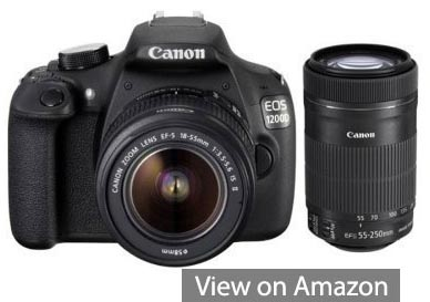 canon dslr camera with lens 1200d