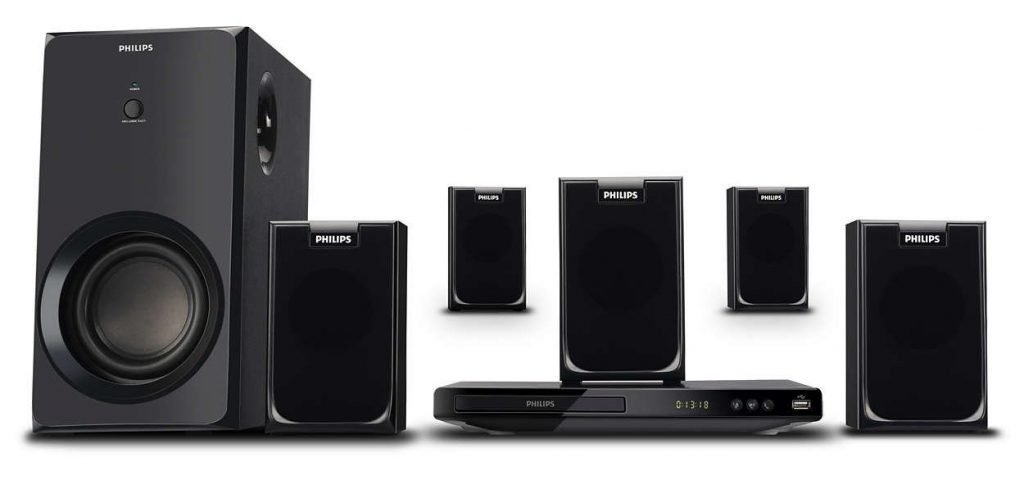 Philips Home Theatre System with 5 Speakers