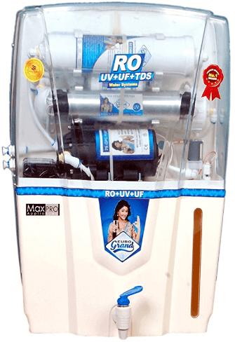 EUROGRAND Water Purifier Ro+Uv+Uf+Tds