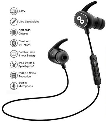 CrossBeats PULSE Wireless Bluetooth Headset In-Ear Sports earbuds