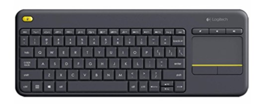2ee1b77b7df This is a high quality wireless keyboard from Logitech that comes with a  built-in touchpad which reduces the hassle by buying a mouse.
