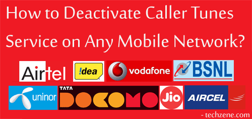 Caller Tune Decactivation SMS Codes List