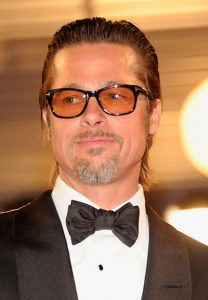 Actor Brad Pitt Wearing NoBlu Glasses