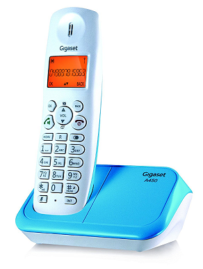 Gigaset A450 white & Blue cordless landline