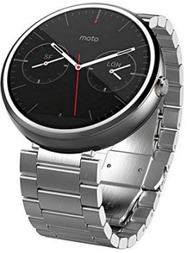 Motorola Moto 360 - Light Metal, 23mm, Smart Watch