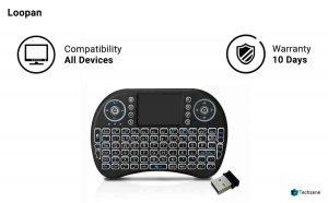 Loopan i8 Mini Wireless Keyboard & Mouse