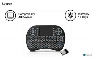 Loopan i8 Mini Wireless Keyboard & Mouse