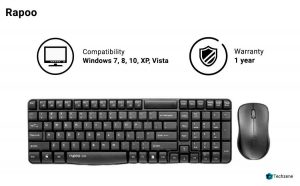 Rapoo X1800 Wireless Keyboard & Mouse