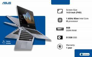 ASUS VivoBook Flip 14 TP412UA-EC231T 14.0-inch Touchscreen Laptop
