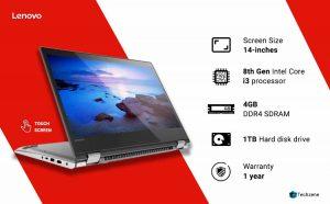 Lenovo Yoga 520 Intel Core i3 8th Gen 14-inch Full HD 2-in-1 Touchscreen Laptop