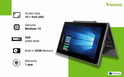Venturer BravoWin 2 in 1  Touchscreen Detachable Laptop/Tablet