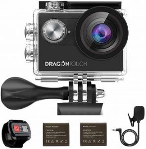 Dragon Touch Vision4 4K 16MP WiFi Action Camera