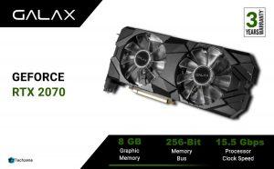 GALAX GeForce RTX 2070 Super EX (1-Click OC) 8GB GDDR6 256-bit DP*3/HDMI Gaming Graphics Card