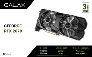 GALAX GeForce RTX 2070 Super EX (1-Click OC) 8GB GDDR6 256-bit DP*3/HDMI Gaming Graphics Card