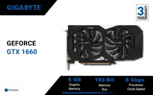GIGABYTE GeForce GTX 1660 Ti Windforce OC 6G 192-bit GDDR6 with Windforce 2X Cooling System Graphic Cards