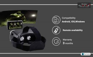Irusu Play VR Box Headset with Lenses and Remote