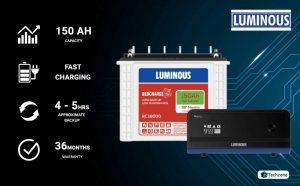luminous 1100va inverter