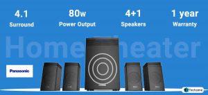 Panasonic SC-HT40GW-K 4.1 Channel Multimedia Bluetooth Speaker