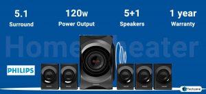 Philips SPA8000B/94 5.1 Channel Multimedia Bluetooth Speakers