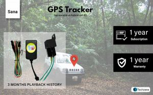 Sana GPS Tracker With Free One Year Software and Sim Recharge