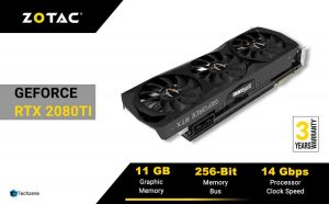 ZOTAC GeForce RTX 2080 Ti AMP Edition 11GB GDDR6 352-bit Graphic Card