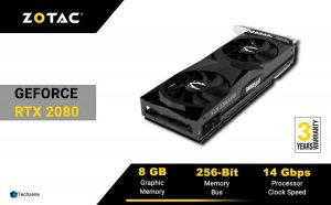 ZOTAC GeForce RTX 2080 Super Twin Fan 8GB GDDR6 256-bit Gaming Graphics Card with Real-Time Ray Tracing and Spectra Lighting