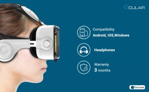 Ocular Grand Fully Adjustable VR Headset With Inbuilt Headphones