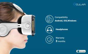 Ocular Grand Fully Adjustable VR Headset With Inbuilt Headphones