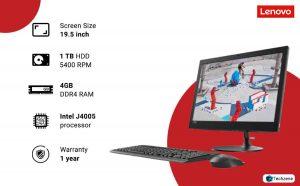 Lenovo AIO 330 F0D70019IN 19.5-inch All-in-One Desktop