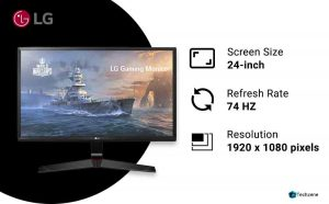 LG 24 inch 75Hz Full HD Gaming Monitor