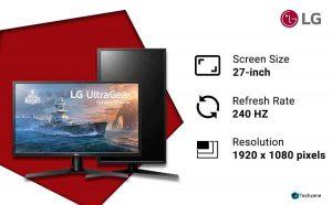 LG Ultragear 27 inch 240Hz Gaming Monitor