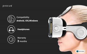 Procus PRO VR Headset With inbuilt Headphones