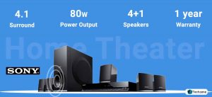 Sony SA-D40 C E12 4.1 Channel Multimedia Bluetooth Speakers