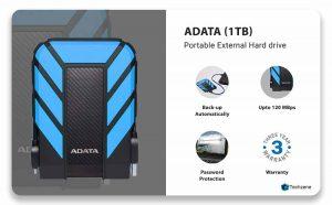 ADATA HD710 Pro 1TB Durable Shockproof External Hard Drive