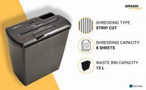 AmazonBasics Cross-Cut Paper/Credit Card Shredder