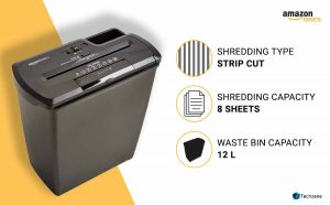 AmazonBasics Cross-Cut Paper/Credit Card Shredder