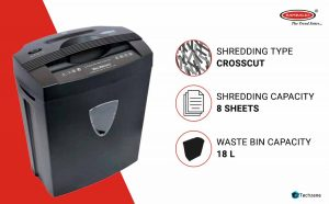 Bambalio BCC-014 Cross-Cut Paper/CD/DVD/Credit Card Shredder