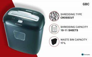 GBC Duo Paper/CD/Credit Card Cross-Cut Shredder