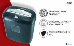 GBC Duo Paper/CD/Credit Card Cross-Cut Shredder