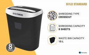 Goldstandard Cross Cut Paper/CD/DVD/Credit Cards Shredder