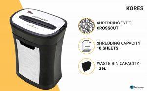 Kores Easy Cut 826 Paper Shredder