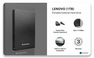 Lenovo F309 USB3.0 1TB External Hard Disk