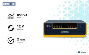 Luminous 1100/12V Home UPS Solar Hybrid Inverter