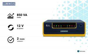 Luminous 1100/12V Home UPS Solar Hybrid Inverter