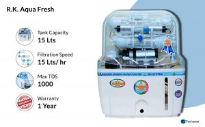 R. K. Aqua Fresh India 15-Liters Adjuster Water Purifier