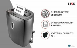 SToK Cross Cut Paper/credit card/CD/DVD's Shredder