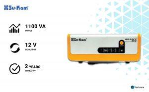 Sukam Chromium Steel 1100Va Brainy Echo Solar Inverter