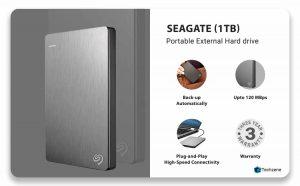 Seagate 1TB Backup External Hard Drive