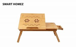 Smart Homez Bamboo Multi-Purpose Laptop Table