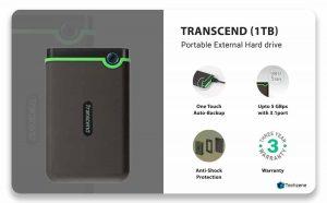 Transcend Portable External Hard Drive